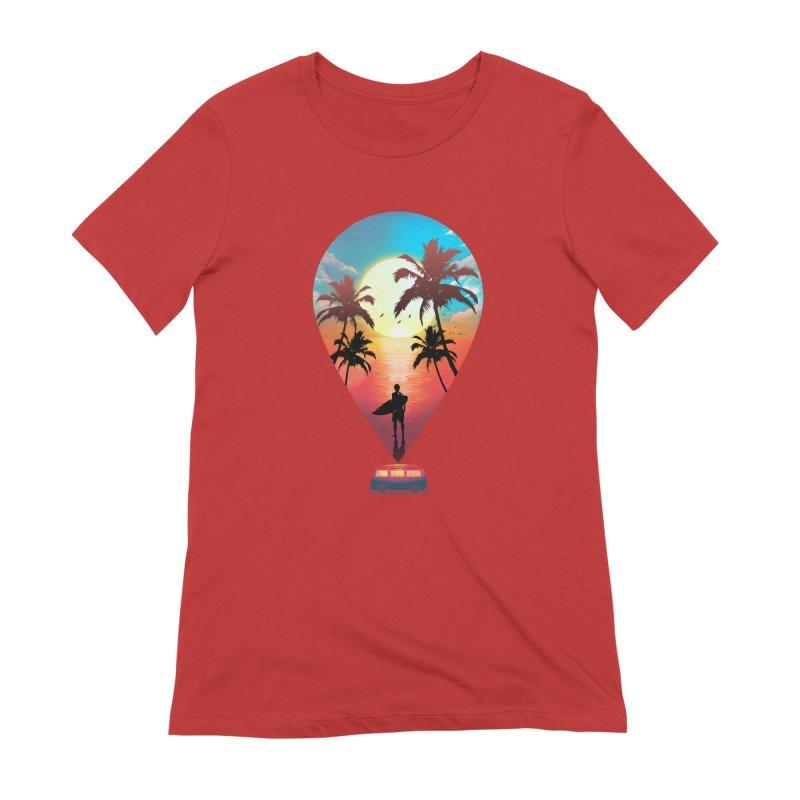 Summer Destination Women's Extra Soft T-Shirt by clingcling's Artist Shop