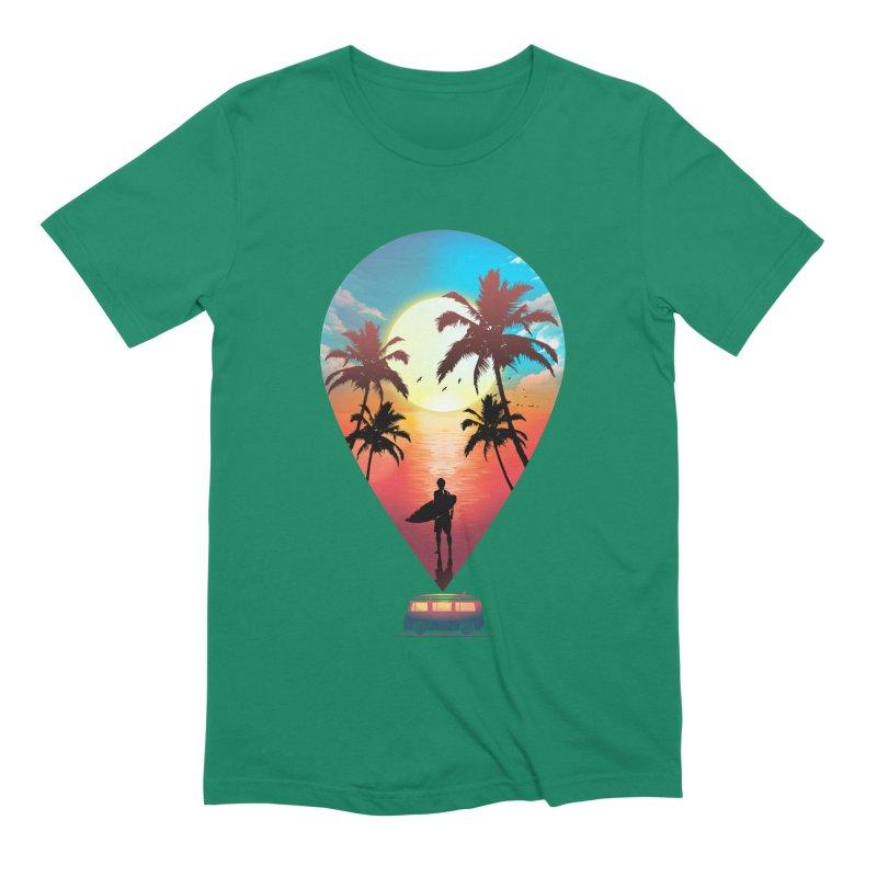 Summer Destination Men's Extra Soft T-Shirt by clingcling's Artist Shop