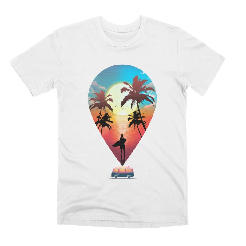 Summer Destination Men's Premium T-Shirt by clingcling's Artist Shop