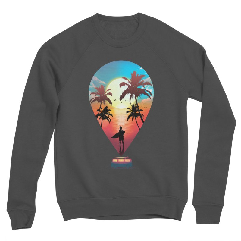 Summer Destination Men's Sponge Fleece Sweatshirt by clingcling's Artist Shop