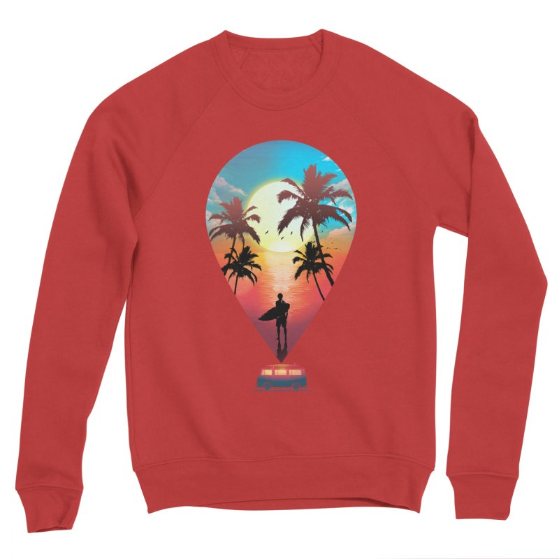 Summer Destination Women's Sponge Fleece Sweatshirt by clingcling's Artist Shop