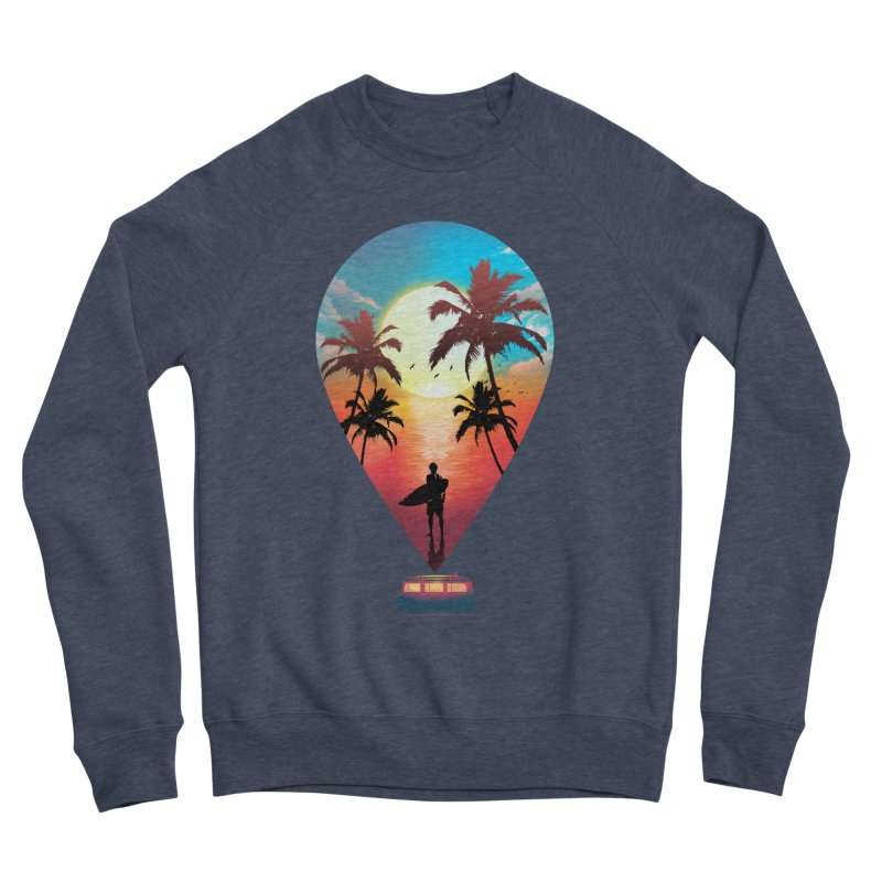 Summer Destination Men's Sponge Fleece Sweatshirt by clingcling's Artist Shop