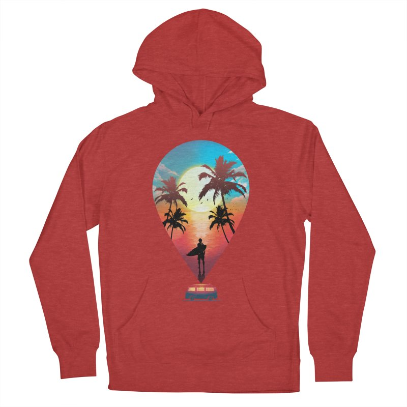 Summer Destination Women's French Terry Pullover Hoody by clingcling's Artist Shop