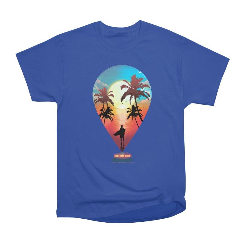 Summer Destination Men's Heavyweight T-Shirt by clingcling's Artist Shop