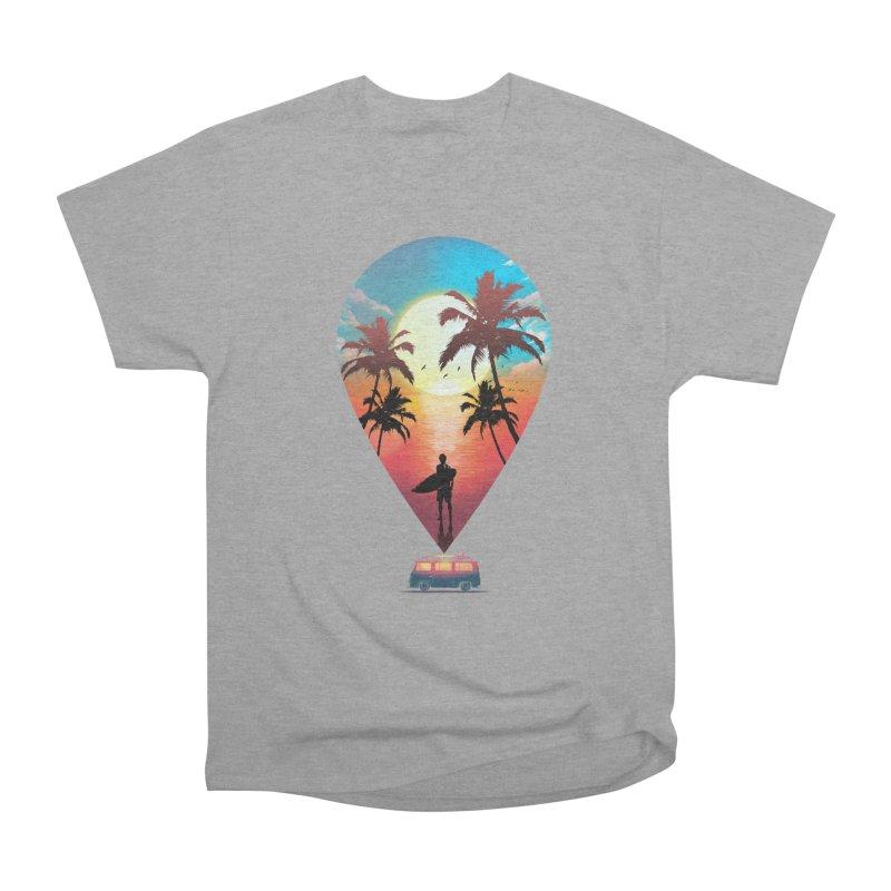 Summer Destination Women's Heavyweight Unisex T-Shirt by clingcling's Artist Shop