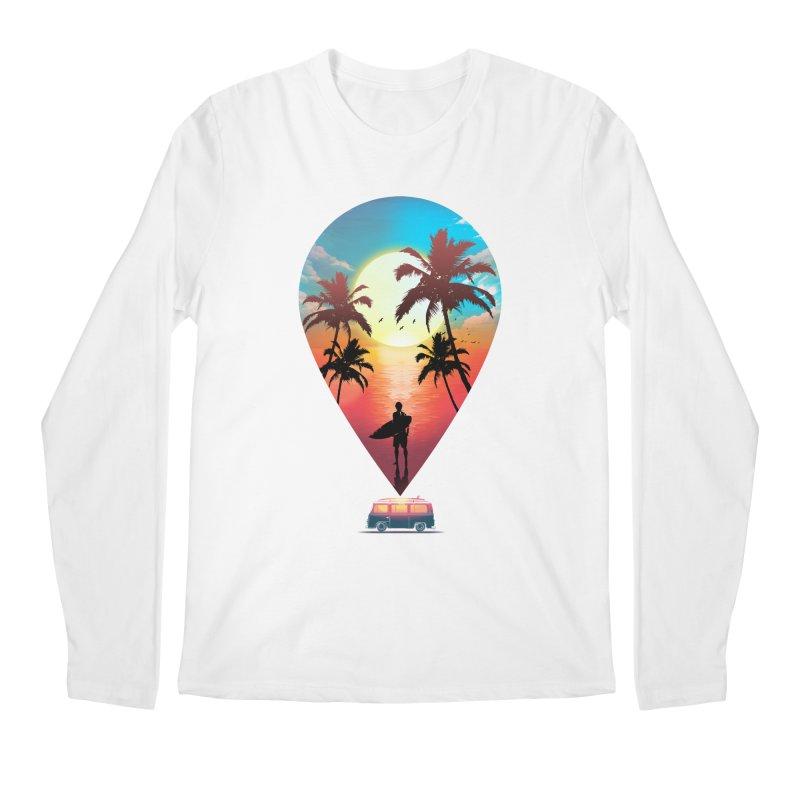 Summer Destination Men's Regular Longsleeve T-Shirt by clingcling's Artist Shop
