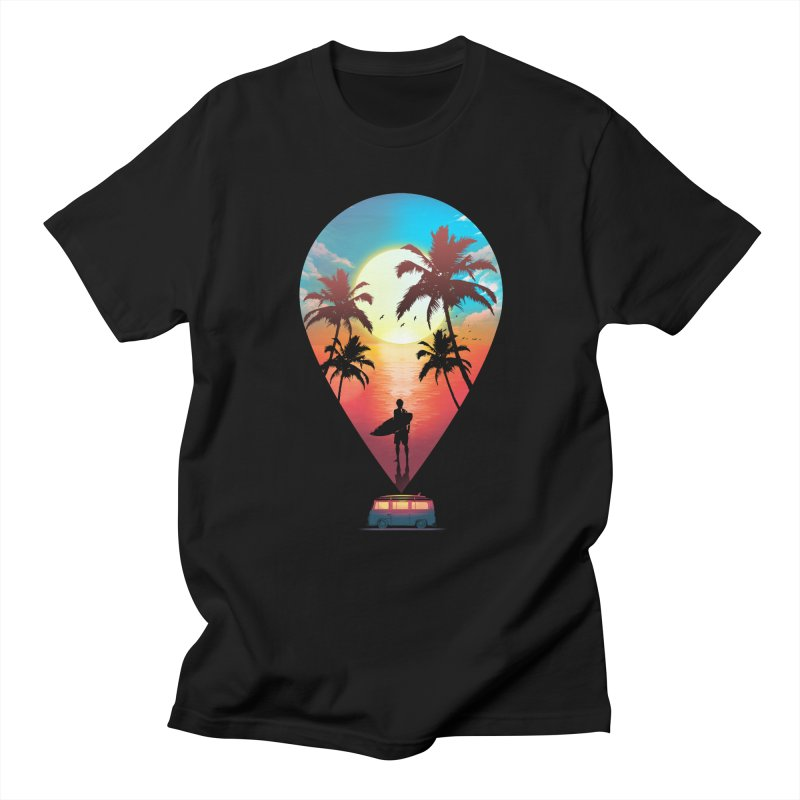 Summer Destination Women's Regular Unisex T-Shirt by clingcling's Artist Shop