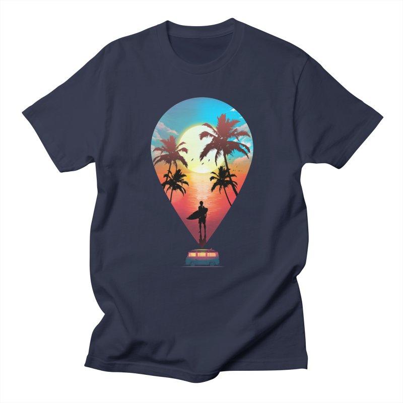 Summer Destination Men's Regular T-Shirt by clingcling's Artist Shop