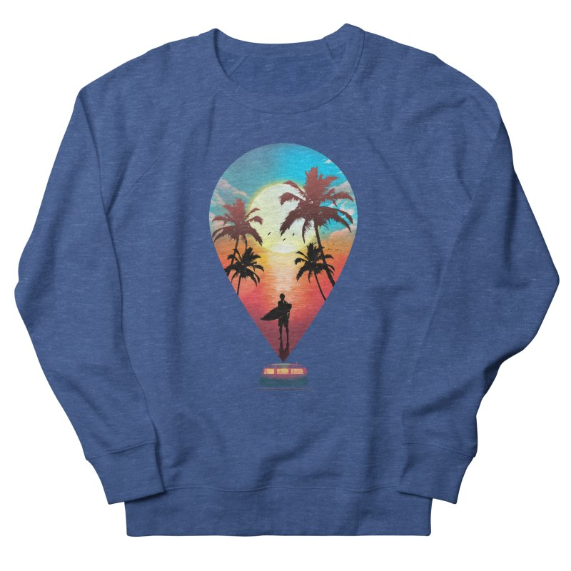Summer Destination Women's French Terry Sweatshirt by clingcling's Artist Shop