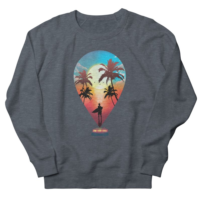 Summer Destination Men's French Terry Sweatshirt by clingcling's Artist Shop