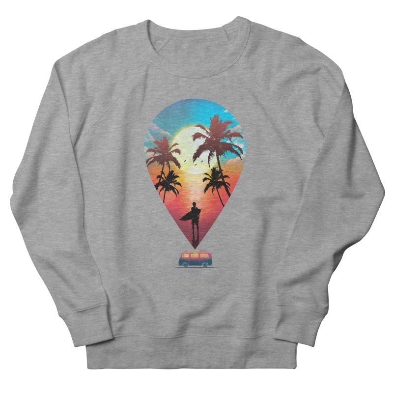 Summer Destination Men's French Terry Sweatshirt by clingcling's Artist Shop