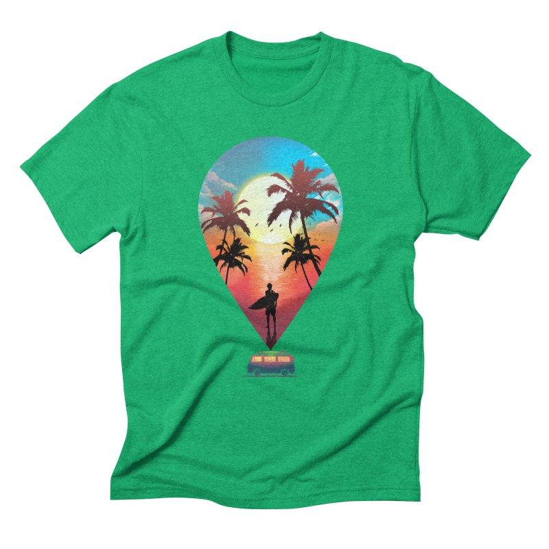 Summer Destination Men's Triblend T-Shirt by clingcling's Artist Shop