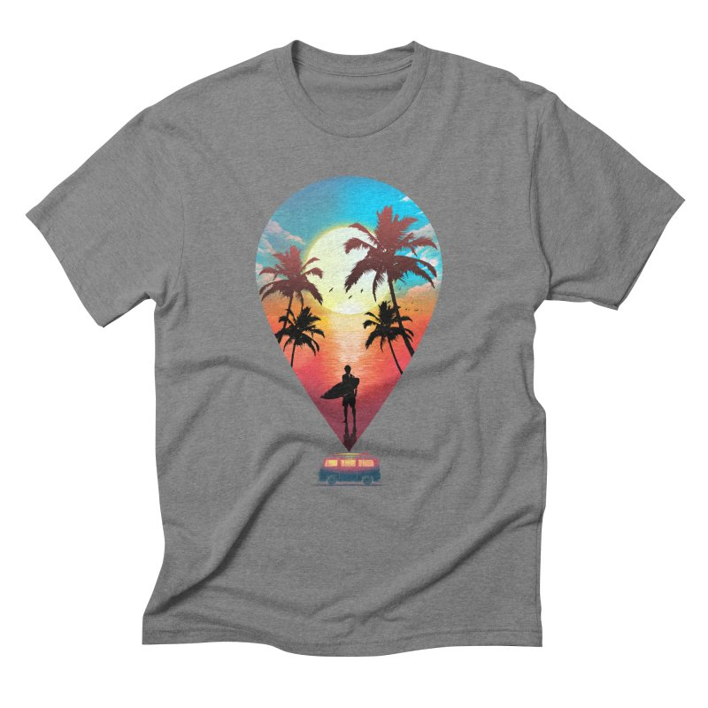 Summer Destination Men's Triblend T-Shirt by clingcling's Artist Shop