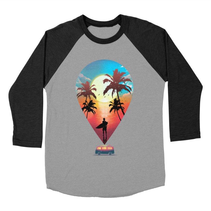 Summer Destination Women's Baseball Triblend Longsleeve T-Shirt by clingcling's Artist Shop