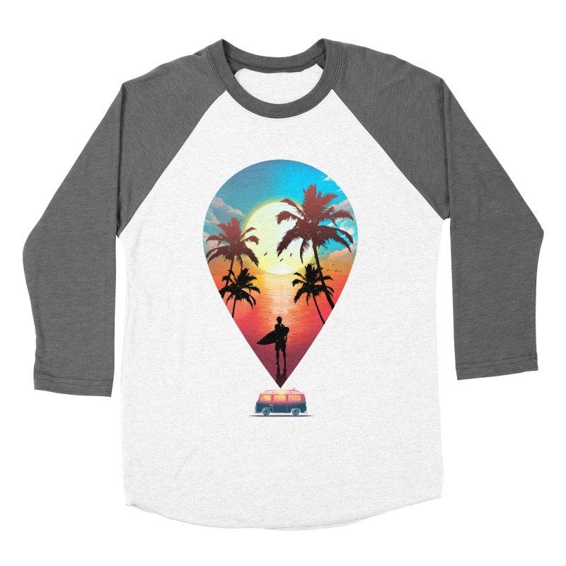 Summer Destination Men's Baseball Triblend Longsleeve T-Shirt by clingcling's Artist Shop