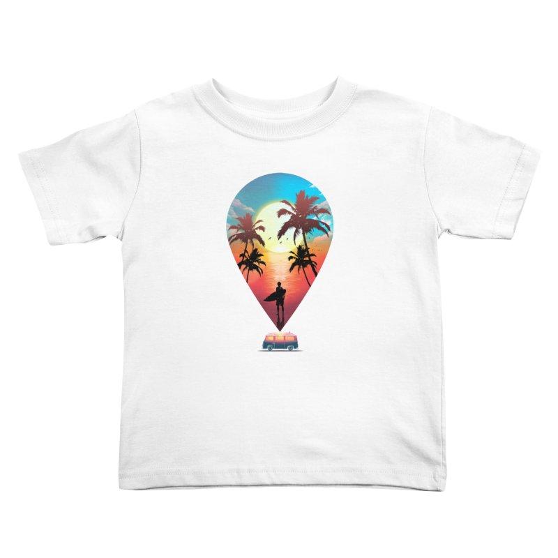 Summer Destination Kids Toddler T-Shirt by clingcling's Artist Shop