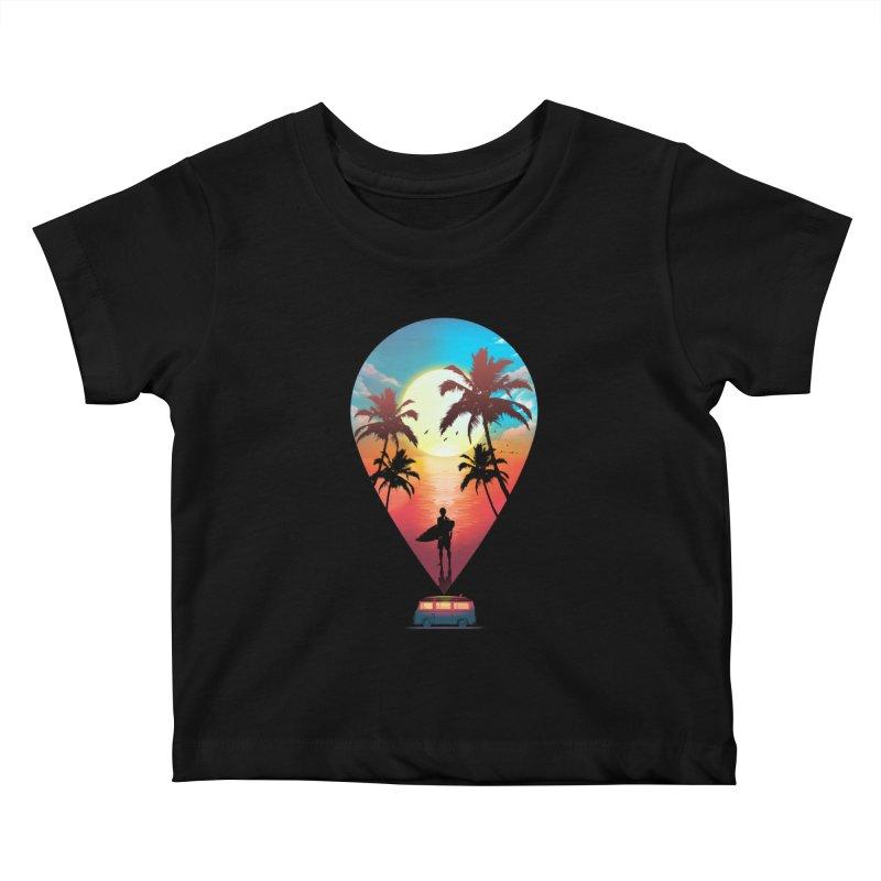Summer Destination Kids Baby T-Shirt by clingcling's Artist Shop