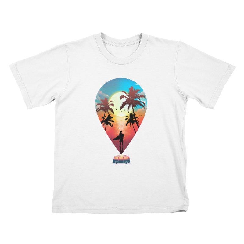Summer Destination Kids T-Shirt by clingcling's Artist Shop