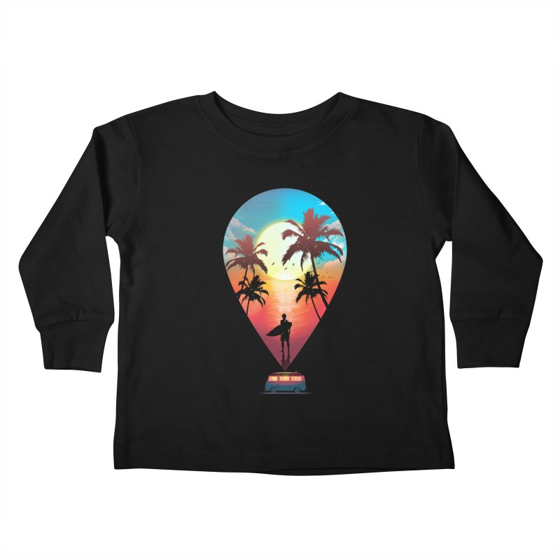 Summer Destination Kids Toddler Longsleeve T-Shirt by clingcling's Artist Shop