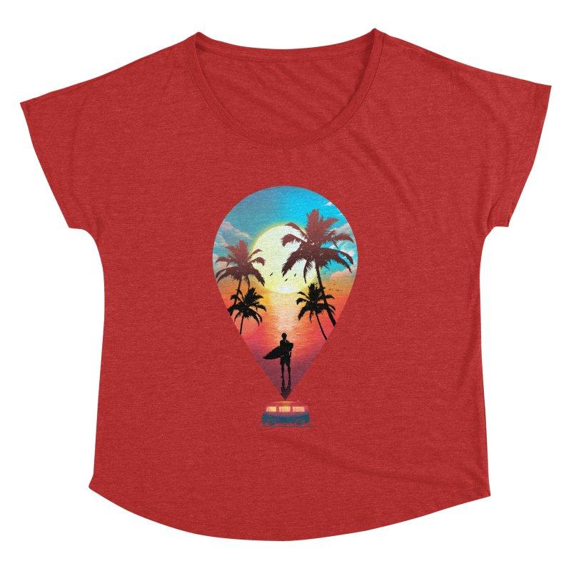 Summer Destination Women's Dolman Scoop Neck by clingcling's Artist Shop