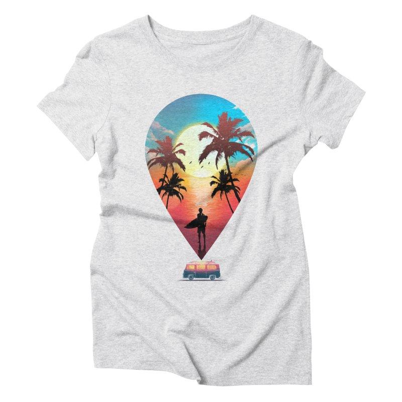 Summer Destination Women's Triblend T-Shirt by clingcling's Artist Shop
