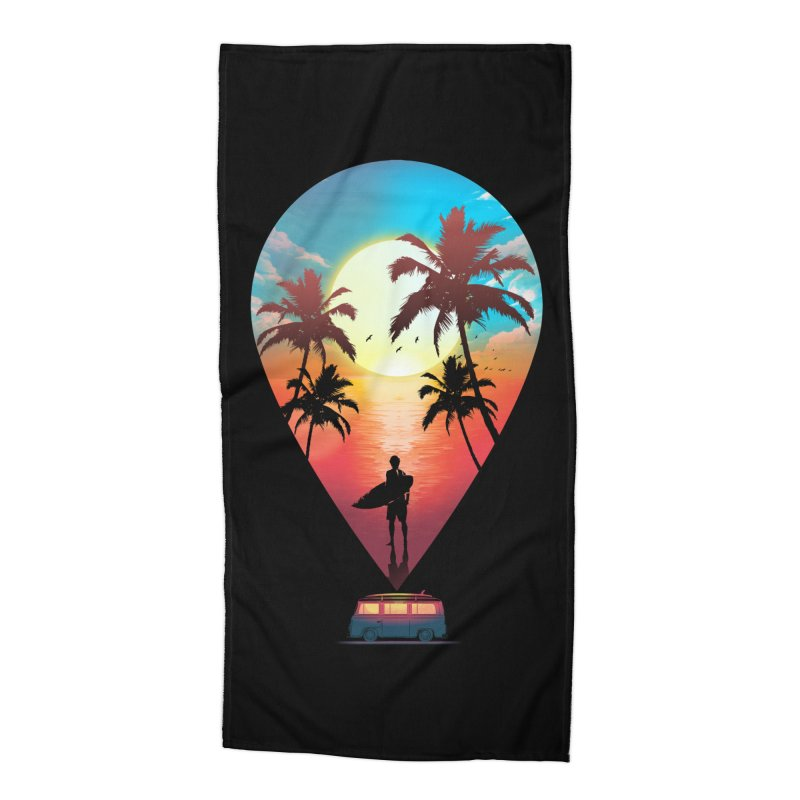 Summer Destination Accessories Beach Towel by clingcling's Artist Shop