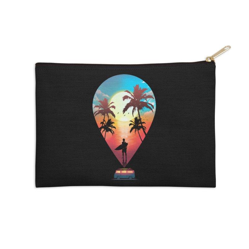 Summer Destination Accessories Zip Pouch by clingcling's Artist Shop