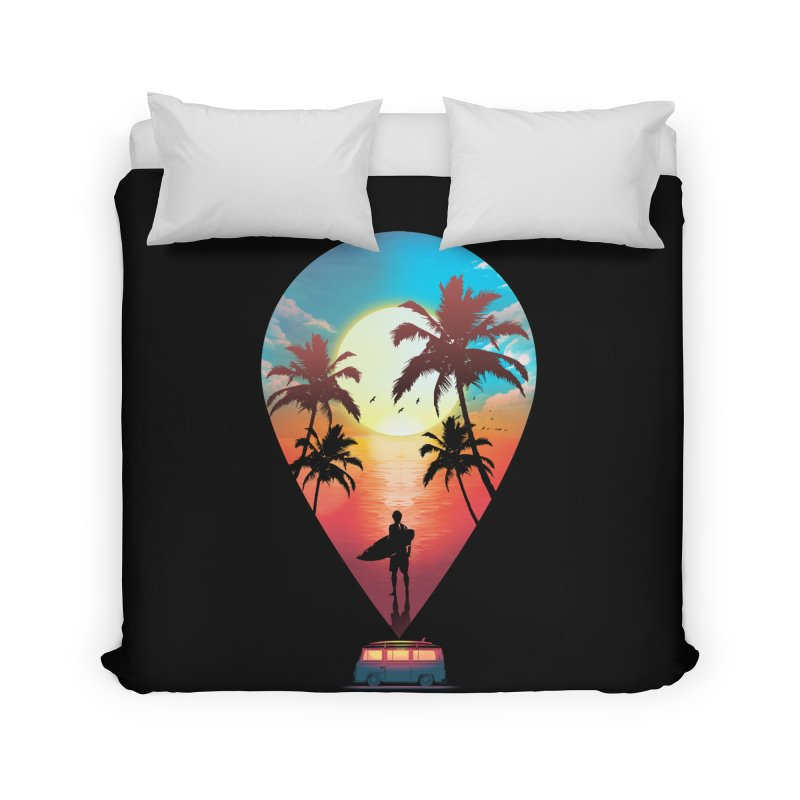 Summer Destination Home Duvet by clingcling's Artist Shop