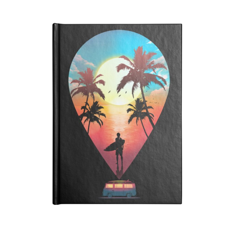 Summer Destination Accessories Lined Journal Notebook by clingcling's Artist Shop