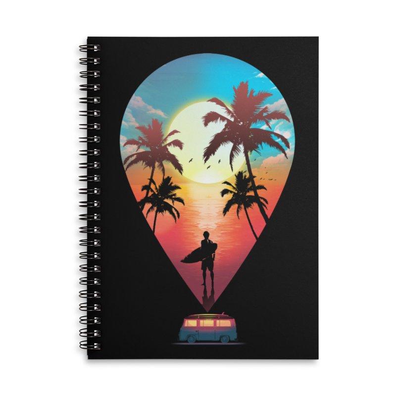 Summer Destination Accessories Lined Spiral Notebook by clingcling's Artist Shop