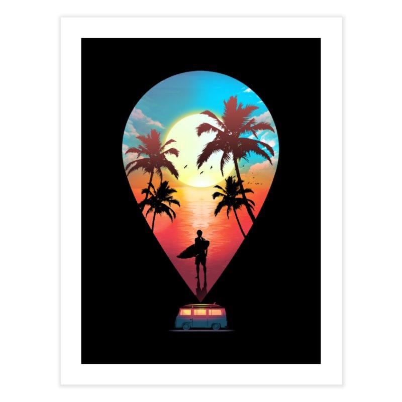Summer Destination Home Fine Art Print by clingcling's Artist Shop