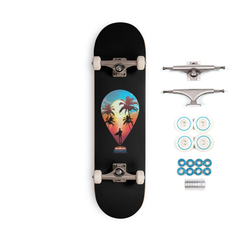 Summer Destination Accessories Complete - Basic Skateboard by clingcling's Artist Shop