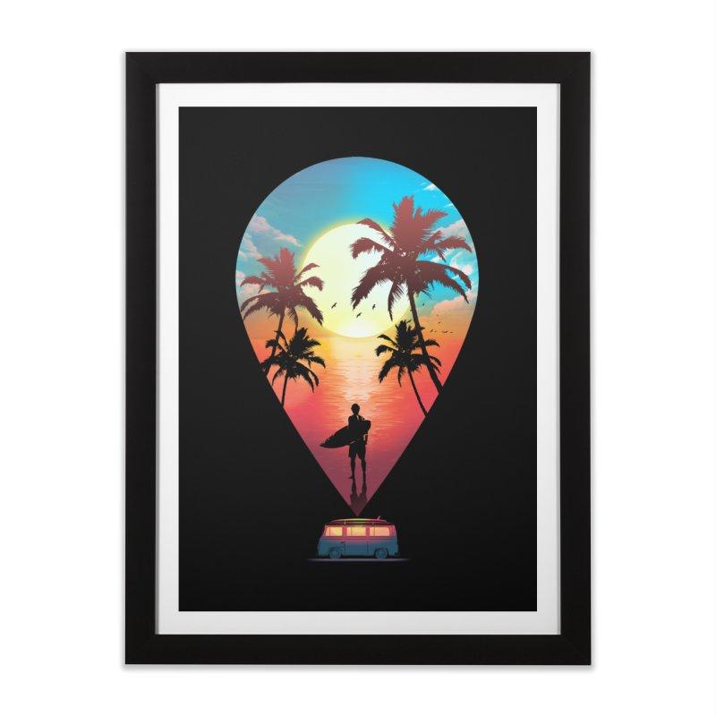 Summer Destination Home Framed Fine Art Print by clingcling's Artist Shop