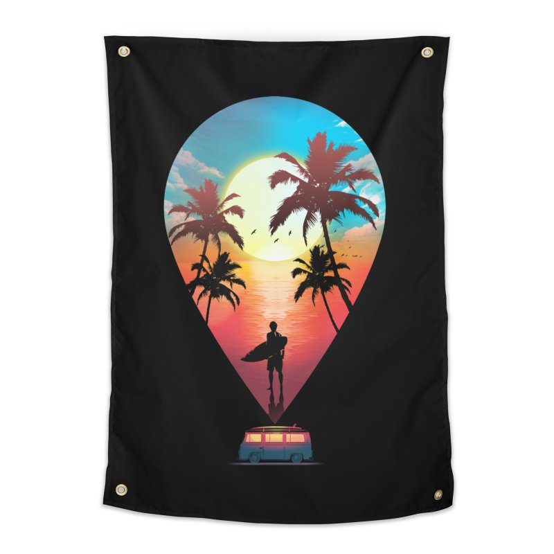 Summer Destination Home Tapestry by clingcling's Artist Shop