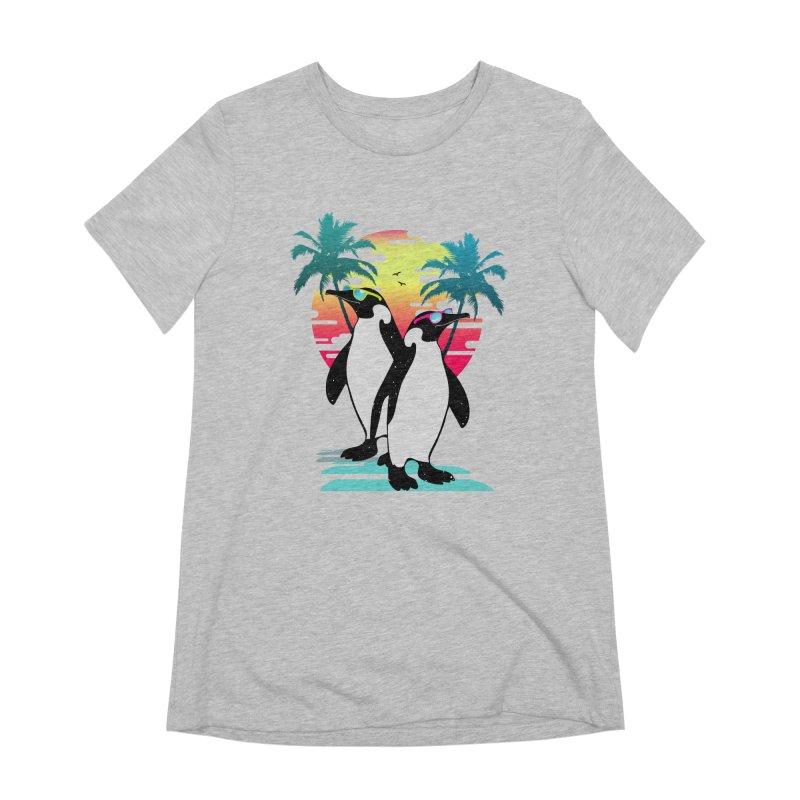 Summer Penguin Women's Extra Soft T-Shirt by clingcling's Artist Shop