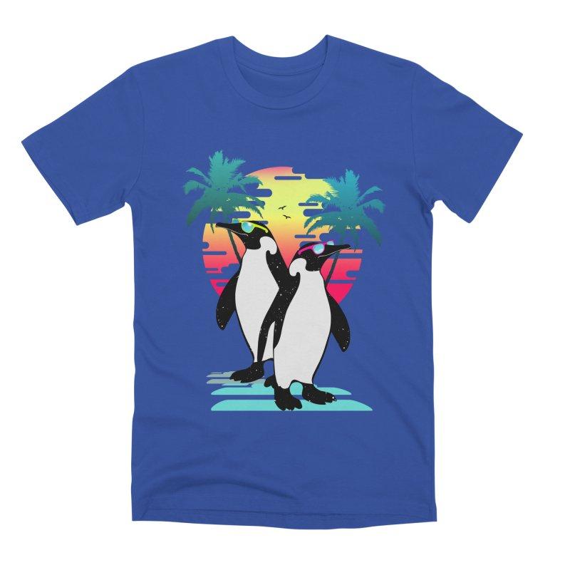 Summer Penguin Men's Premium T-Shirt by clingcling's Artist Shop