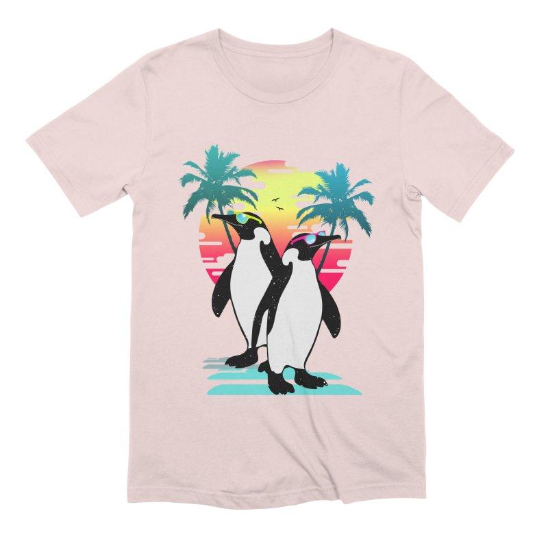 Summer Penguin Men's Extra Soft T-Shirt by clingcling's Artist Shop