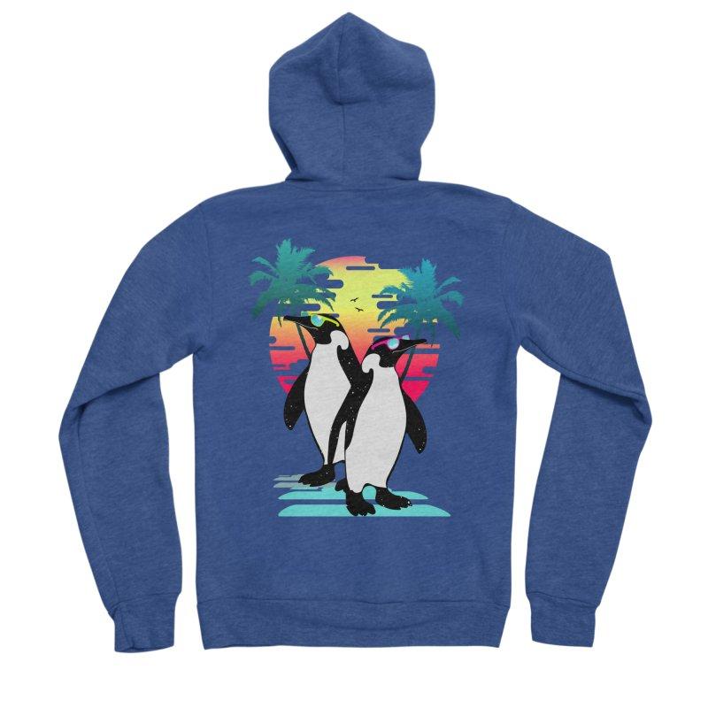 Summer Penguin Women's Sponge Fleece Zip-Up Hoody by clingcling's Artist Shop
