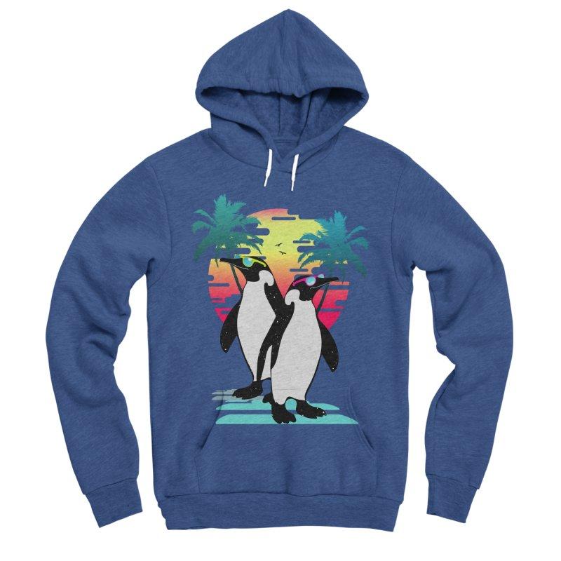 Summer Penguin Men's Sponge Fleece Pullover Hoody by clingcling's Artist Shop