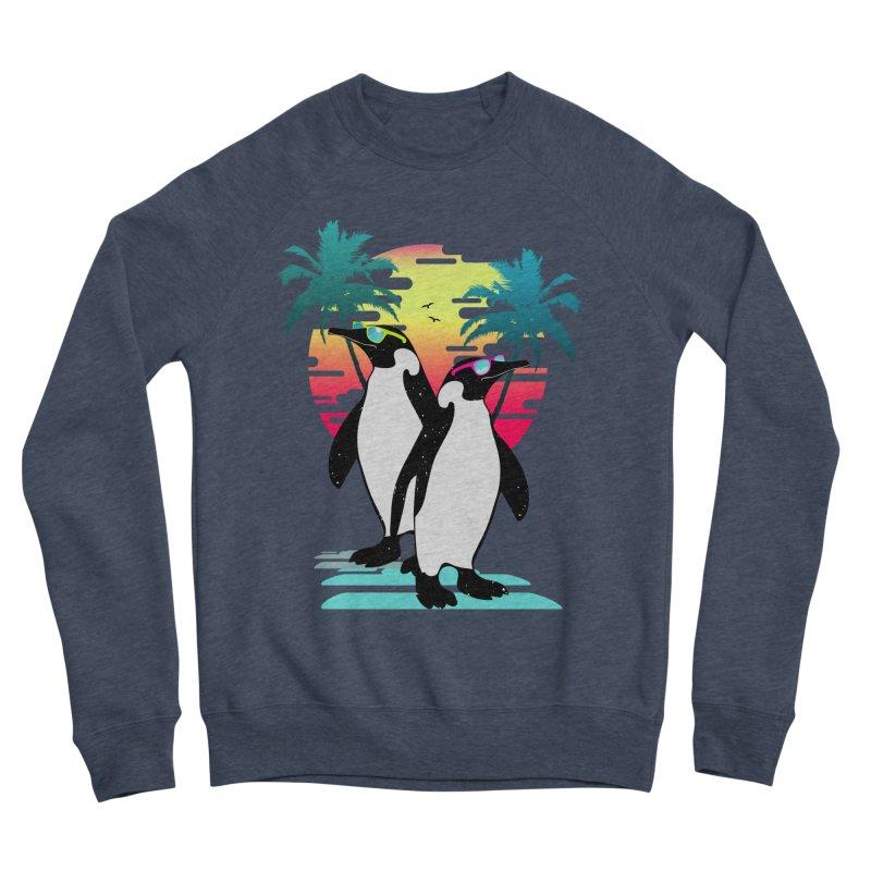 Summer Penguin Men's Sponge Fleece Sweatshirt by clingcling's Artist Shop