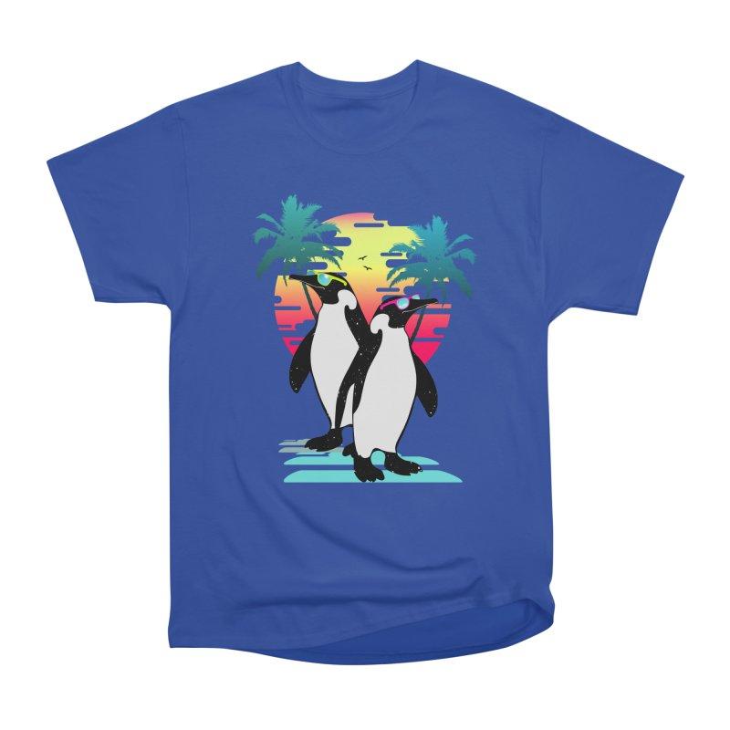 Summer Penguin Men's Heavyweight T-Shirt by clingcling's Artist Shop