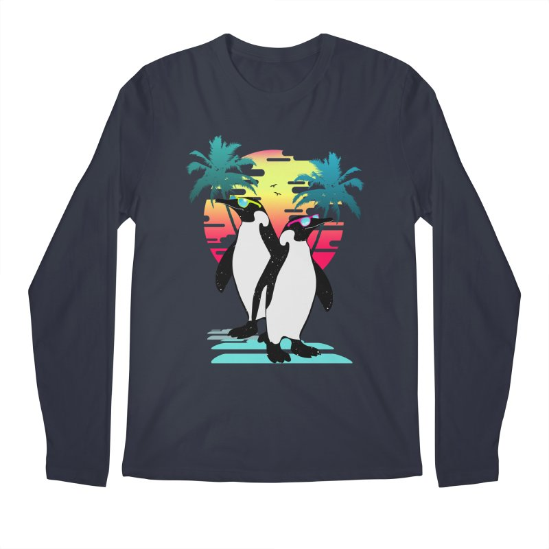 Summer Penguin Men's Regular Longsleeve T-Shirt by clingcling's Artist Shop
