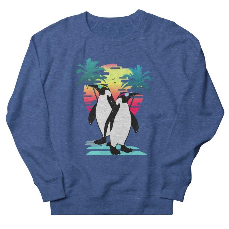 Summer Penguin Men's French Terry Sweatshirt by clingcling's Artist Shop