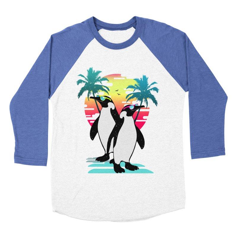 Summer Penguin Women's Baseball Triblend Longsleeve T-Shirt by clingcling's Artist Shop