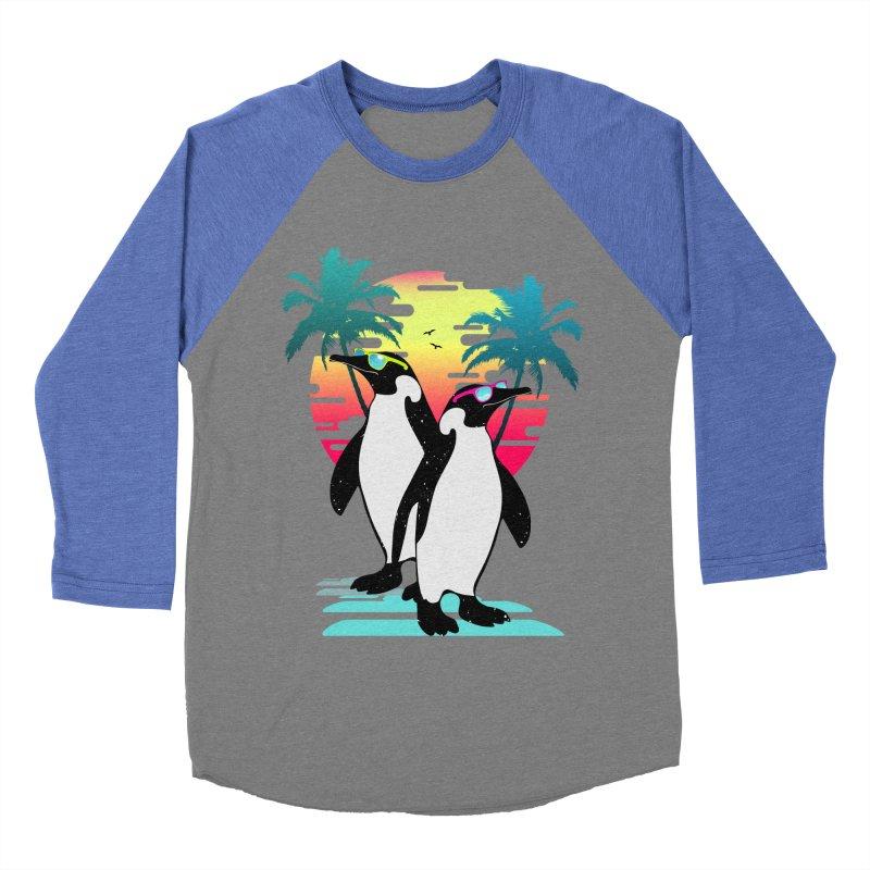 Summer Penguin Men's Baseball Triblend Longsleeve T-Shirt by clingcling's Artist Shop