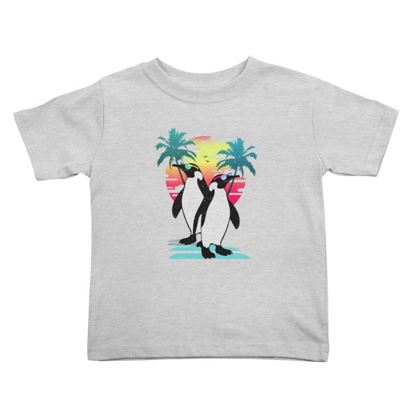 Summer Penguin Kids Toddler T-Shirt by clingcling's Artist Shop