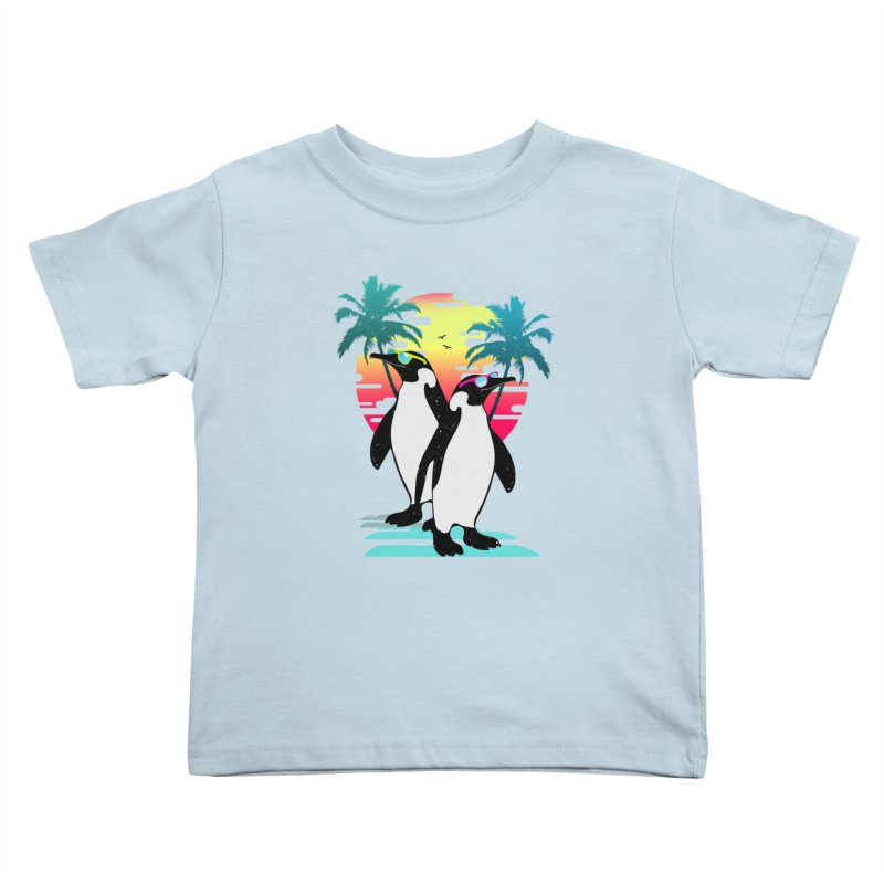 Summer Penguin Kids Toddler T-Shirt by clingcling's Artist Shop