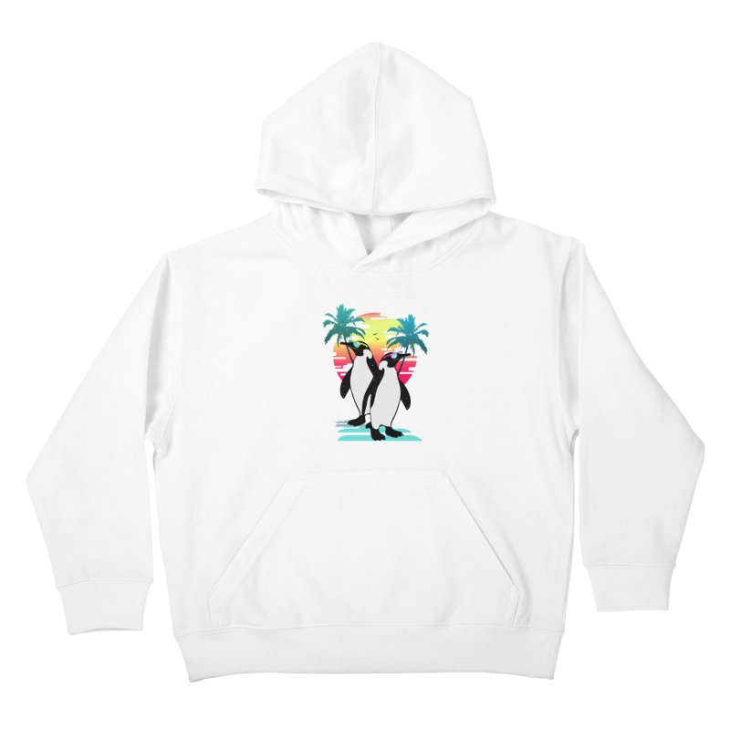 Summer Penguin Kids Pullover Hoody by clingcling's Artist Shop