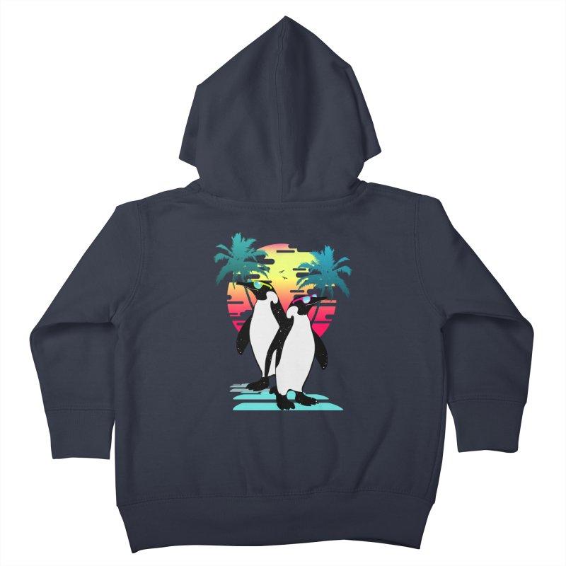 Summer Penguin Kids Toddler Zip-Up Hoody by clingcling's Artist Shop