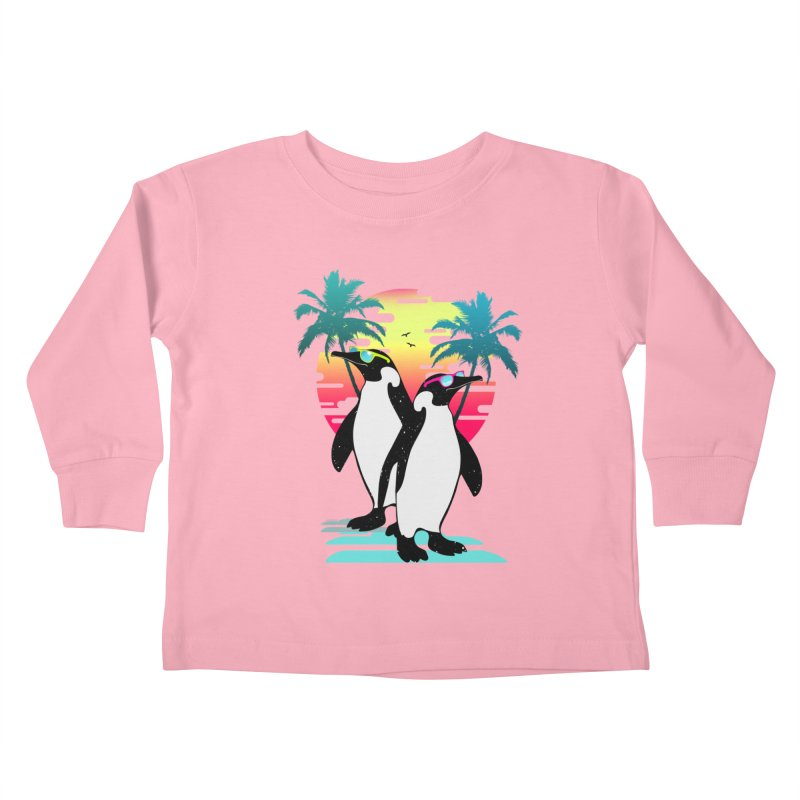 Summer Penguin Kids Toddler Longsleeve T-Shirt by clingcling's Artist Shop